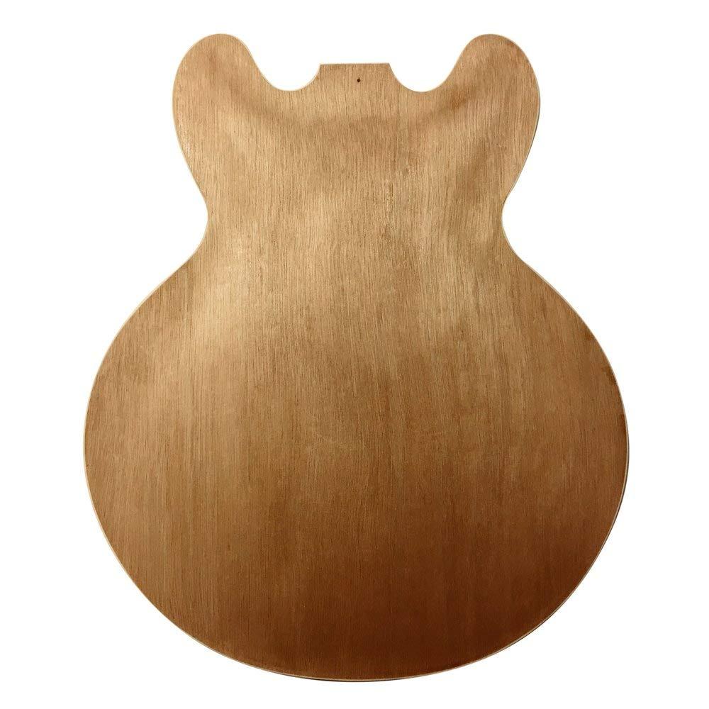 diestros CAOBA Semi Cuerpo Hueco Guitarra Eléctrica Kit ...