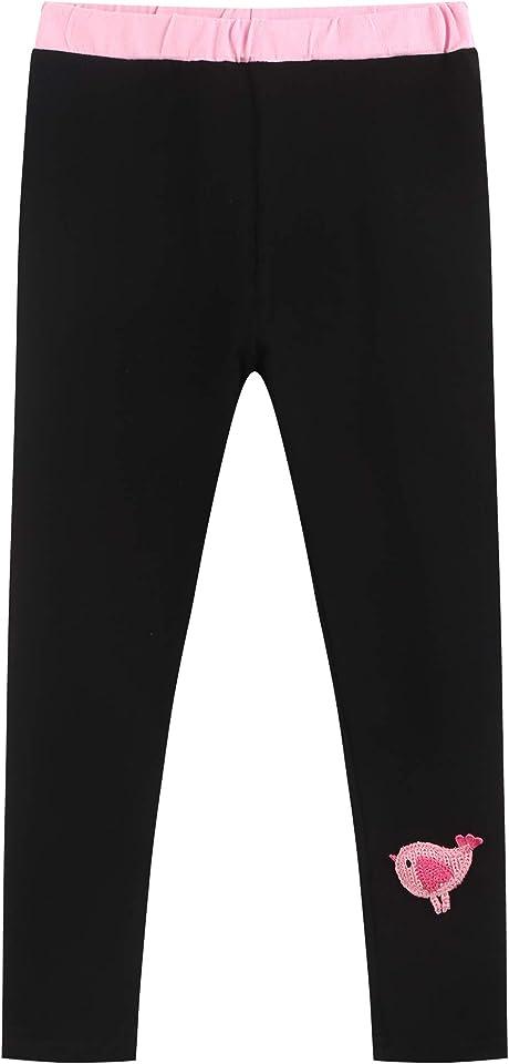 Mädchen Lange Leggings Sporthosen Yoga Baumwolle high Waist Hosen 2er Pack