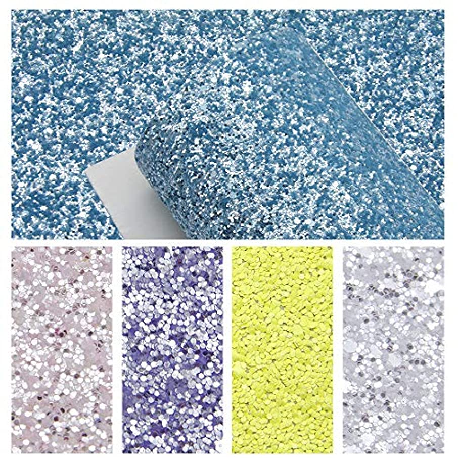 David accessories Chunky Glitter Faux Leather Sheet Crude Sequins Synthetic Leather Fabric Canvas Back 5 Pcs 8