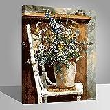 RIHE Cadre en Bois, Peinture par Numero Kits avec Brosses et Peintures pour Adultes Enfants Seniors Débutant Acryliques Kits de Peinture sur Canevas- Un Bouquet de Fleurs 16 * 20 Pouces