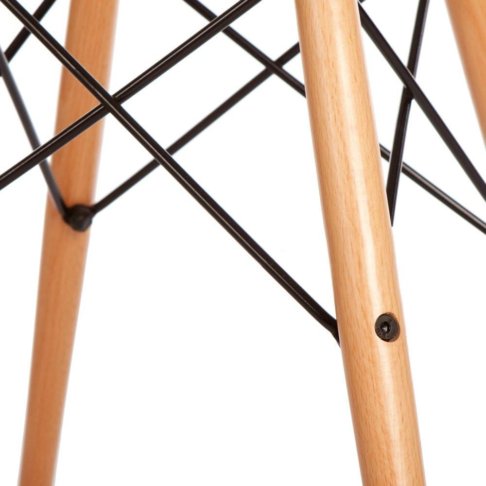 ARYANA HOME Nordique, Fauteuil scandinave, Salle à Manger, Salon, Chaise Retro en polypropylène, Gris Foncé, 81 x 62 x 62 cm Gris Foncé
