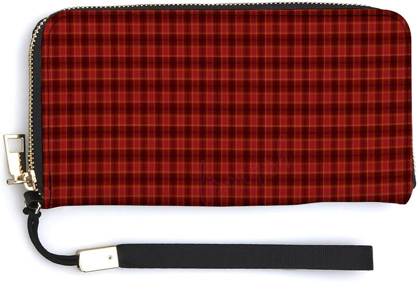Max 53% OFF Wallets for Women PU Leather- Around Zip Classic Plaid San Antonio Mall Pattern