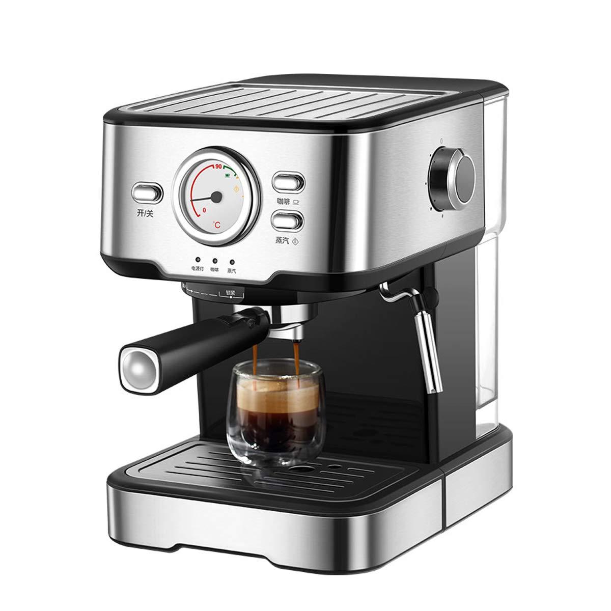 LTLWSH Cafetera Espresso, con Filtro de Agua 1050 W de Potencia Presión de 20 Bares Depósito de Agua de 1,5 litros, Boquilla de Vapor Termómetro Colador: Amazon.es: Hogar
