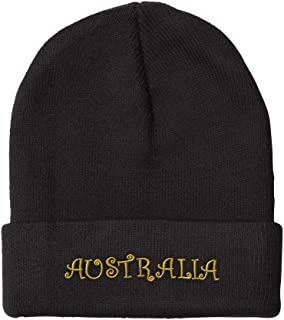 Custom Beanie for Men & Women Australia Gold Embroidery Acrylic Skull Cap Hat