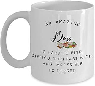 Coworkers Co-worker Colleague Boss best mugs coffee tea cup gifts funny friend Retirement Goodbye Leaving Farewell For Going Away Thank You leave chocolate man woman amazing (11oz Boss)