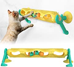 USWT Cat Track Toy, Interactive Kitten Roller Window Mounted Puzzle Toys with Suction Cup
