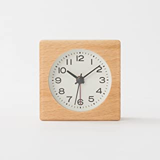 MUJI Beech watch wood Clock analog alarm function MJ-BC1 Step Second Hand MoMA watch