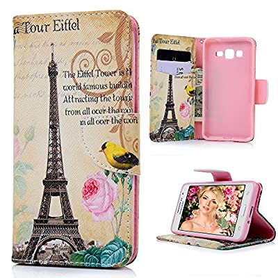 Galaxy Grand Prime Case,Samsung Galaxy Grand Prime Case - Wallet Flip Stand Case PU Leather Case with Shockproof TPU Inner Bumper Colorful Slim Protective Card Slots Cover by Badalink