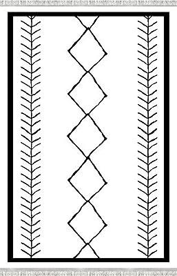 Bonamaison 1 Tapis en Imprimé Numérique, Multicolore, 80x150 Cm