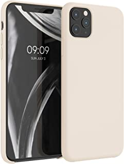 kwmobile TPU Silicone Case Compatible with Apple iPhone 11 Pro Max - Soft Flexible Rubber Protective Cover - Buttercream