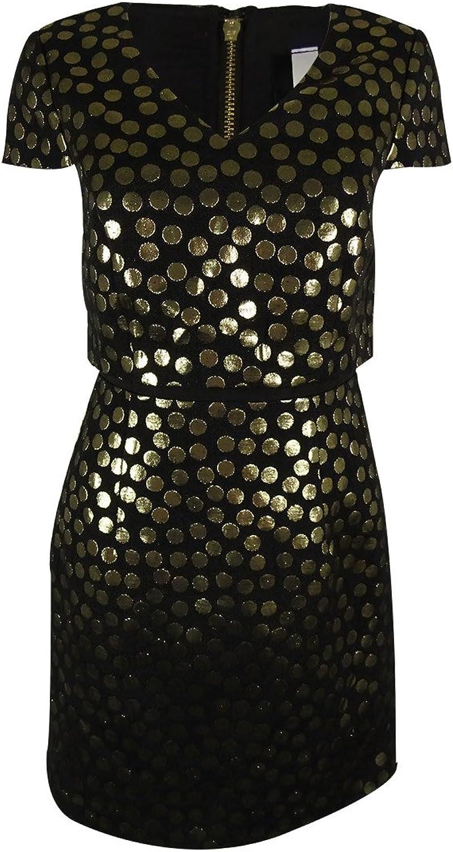 Kensie Womens Polka Dot Shift Dress