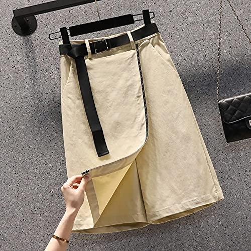 ShFhhwrl alla Moda Semplice e generosoPantaloncini da Donna in Denim Sexy da Spiaggia Pantaloni Casual da Donna al Ginocchio Estivi Stile S