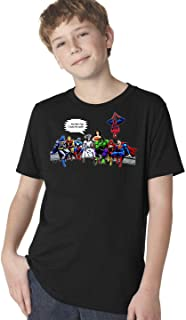and That's How I Saved The World Jesus Superheroes Youth T-Shirt