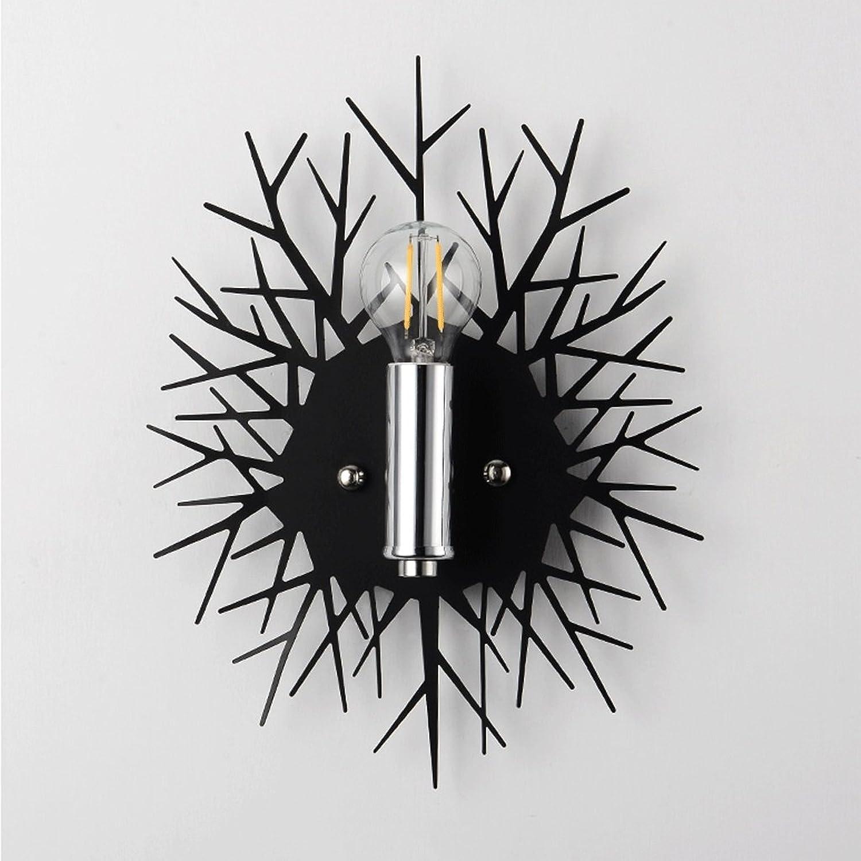 Unbekannt GJ Kreativitt Wand Lampe - Schatten Wandleuchte Schlafzimmer Nacht Wohnzimmer Restaurant Einfache Moderne Nordeuropa Kinderzimmer Hintergrund Wandleuchte GJV (Farbe   SCHWARZ)