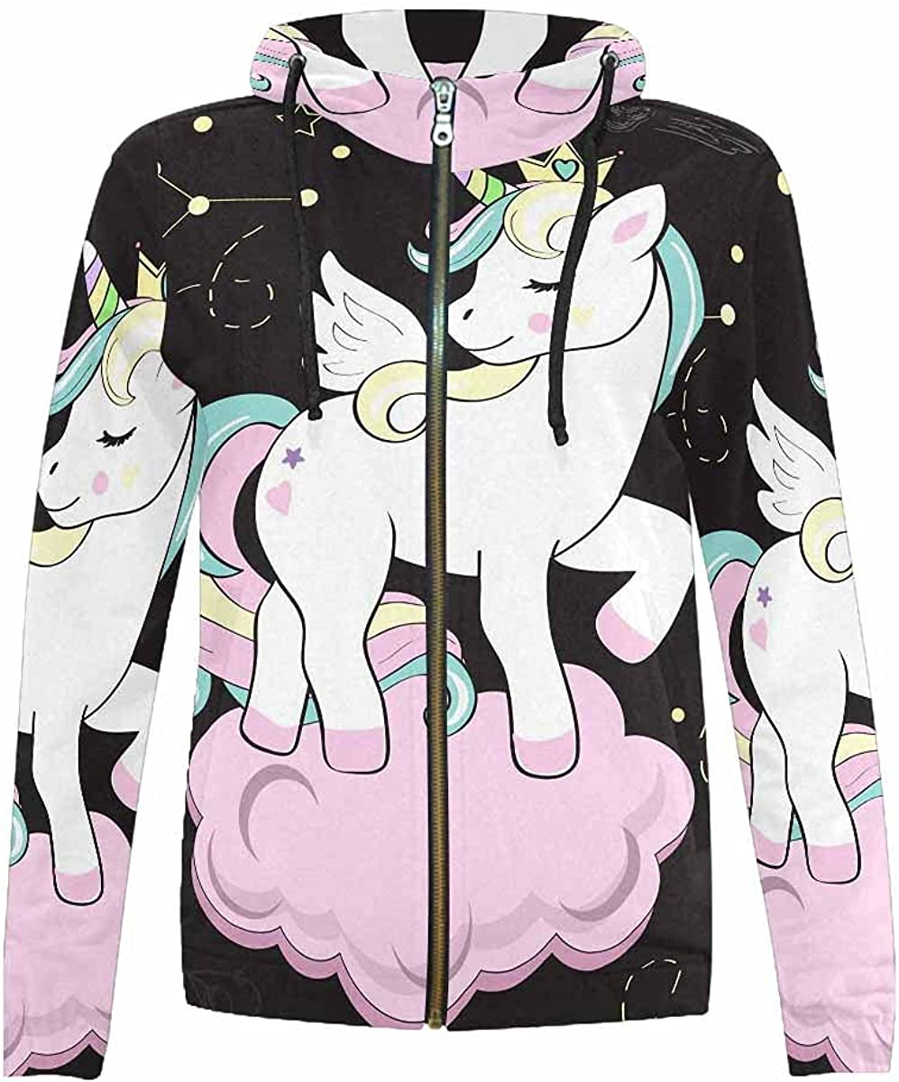 InterestPrint Beautiful Magical Unicorn Color Now Sale SALE% OFF free shipping Long Brown Sleeve
