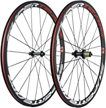 Superteam 38mm Carbon Road Wheelset 23mm Width Clincher Wheel with Basalt Braking Surface