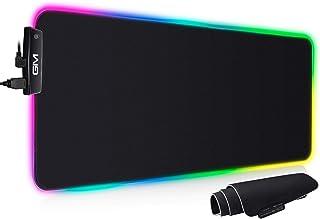 GIM RGB Gaming Mauspad XXL Mauspad Groß 800x300x5mm, Mousepad mit 14 Beleuchtungsmodi und USB Anschlüssen, Langlebig, ruts...