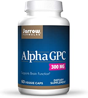 Jarrow Formulas Alpha GPC 300 mg - 60 Veggie Caps - Supports Brain Function - Up to 60 Servings