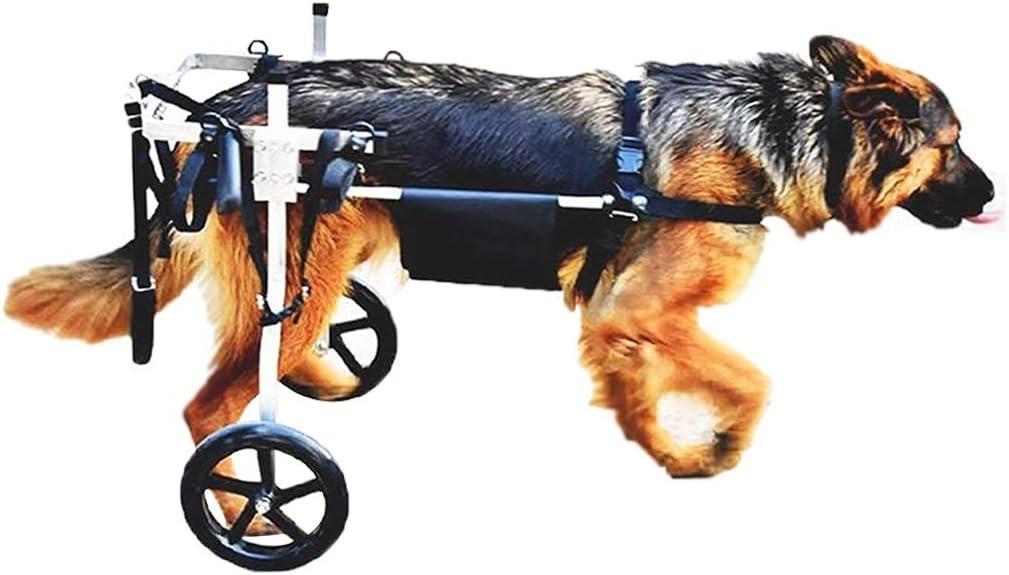 FXBFAG Ruedas para Caminar Silla de Ruedas para Perros medianos Grandes Carrito para Mascotas Ruedas para Caminar Rehabilitación de Patas traseras, arneses para Autos para Perros Perros de 15 a 60