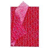 RUSPEPA Carta Velina Da Regalo - Carta Velina Con Design Love Lettering Sfuso Per San Valentino, Decorazioni Per Feste, Artigianato Fai-Da-Te - 50 X 70 cm - 25 Fogli