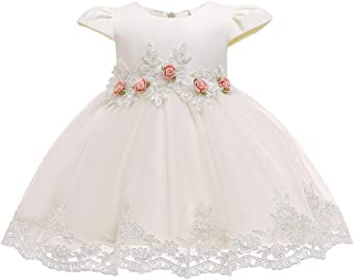 Kids Girls Dress Floral Princess Bridesmaid Pageant Gown Birthday Party Wedding Lace Sleeveless Dress Costume Outfits Form...
