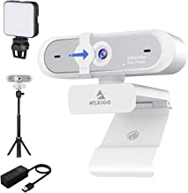 1080P 60FPS Webcam Kits, NexiGo FHD USB Web Camera with Privacy Cover, Extendable Tripod Stand, Video Conference Lighting,...