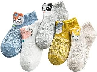 TMEOG 5 Paia Ragazza del Bambino Calzini di Cotone Bambine Calzini Neonato Infantile Calze 1-12 Anni