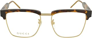 Gucci Men's Tortoise Oval Eyeglass Frames GG0605O-002 52