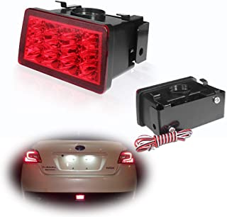 Miniclue F1 Style LED Rear Fog Light Kit with Wire Harness and Mounting Bracket Fit for 2011-up Subaru WRX STi, Impreza or XV Crosstrek,Red Lens