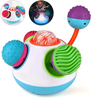 Number-one Colorful Klickity Baby Toy Baby Sensory Ball for Training Hand-Eye Coordination, Baby Soft Ball Combination Kid Educational Music Toy Ideal Gift for 1~3 Years Boys and Girls