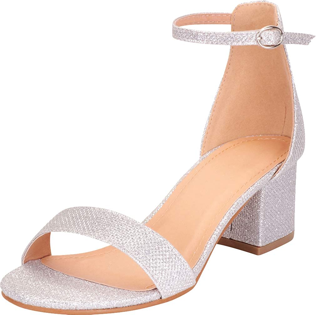 Cambridge Select Women's Max 55% OFF Single Band Strap Ankle Our shop most popular Chunky Buckled