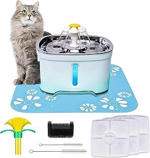 Katzen Trinkbrunnen, Katzenbrunnen Organischer Filter Leise rutschfest Hunde und Katzen Automatisch Leise Haustier Wasserbrunnen Wasserspender mit 3 Aktivkohlefilter 2.5L£¨84Oz£©