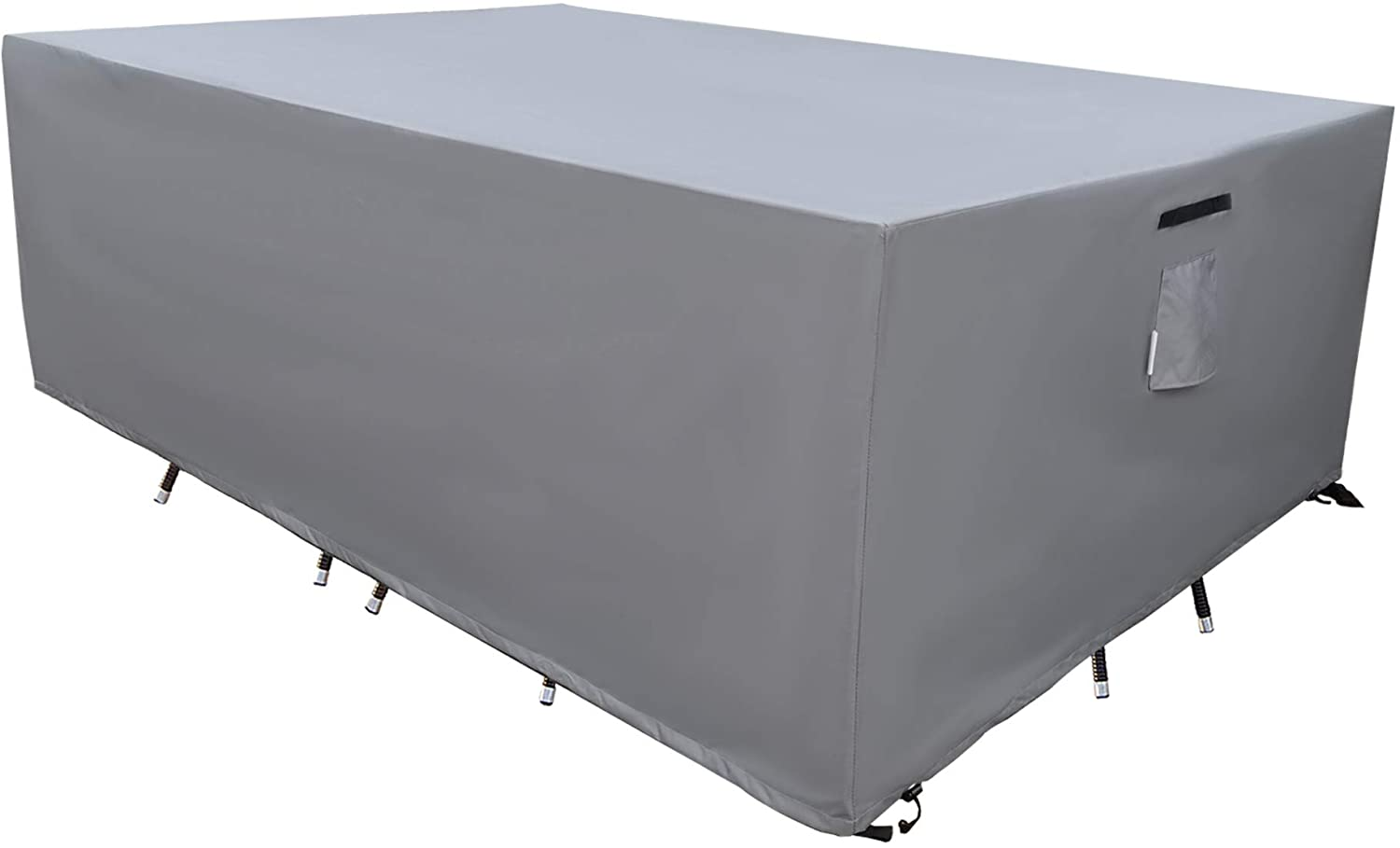SERHOM Patio Furniture Covers, Waterproof Anti-UV 600D Heavy Duty Durable Table Cover for Outdoor Dining Table, Grey, 74x44x29 : Patio, Lawn & Garden