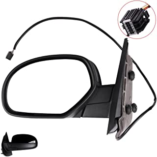 SCITOO Towing Mirrors fit Chevrolet GMC Left Driver Side Automotive Exterior Mirrors fit 2007-2013 Chevrolet Silverado GMC Sierra (07 for New Body) with Power Controlling and Heated Features