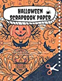 Halloween scrapbook paper | Scrapbooking paper pack for crafts and journaling sugar skulls and pumpkins craft paper | Double sided pages: Premium ... | Large 8.5 x 11 (Craft paper for holidays)