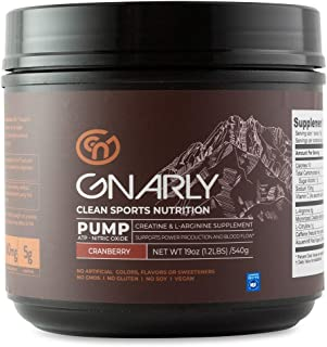 Gnarly Nutrition, Pump Creatine Supplement with L-arginine and L-Citrulline to Boost Nitric Oxide Levels