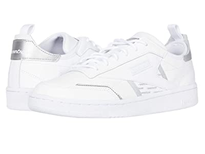 Reebok Club C Ree:Dux (White/Silver Metallic/None) Women