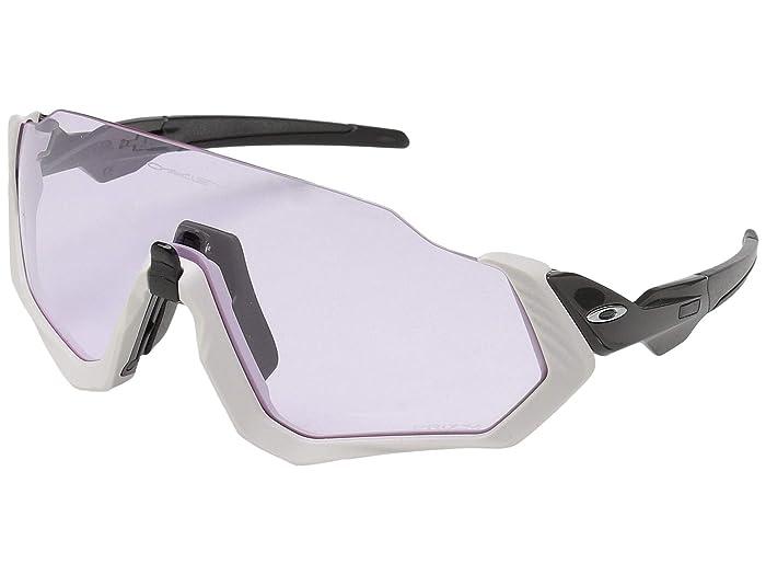 Oakley Flight Jacket (Carbon/Matte Warm Grey w/ Prizm Low Light) Sport Sunglasses