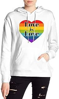 VJJ AIDEAR LGBT Women's Sweater Printed Hoodied Long Sleeve Coat