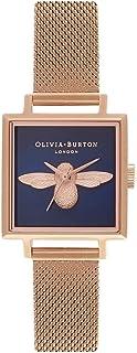 Olivia Burton Reloj Analógico para Mujer de Cuarzo con Correa en Acero Inoxidable OB16AM96
