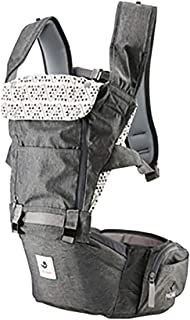 Pognae No 5 Organic Baby Hipseat All in One Carrier Six Position for Infants Babies Toddlers (Gray)