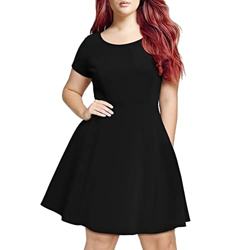 Black Skater Dress Plus Size: Amazon.com