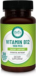 Nature's Instincts Vitamin B12 1000mcg for Energy Support, 100 Count