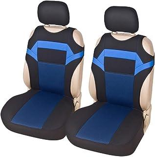 2pcs Auto Vordersitzbezug,Autositzbezüge Sitzschoner passt die meisten Auto LKW SUV oder Van (BLAU)