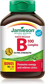 Jamieson B Complex 100mg Time Released Bonus 120 Count …