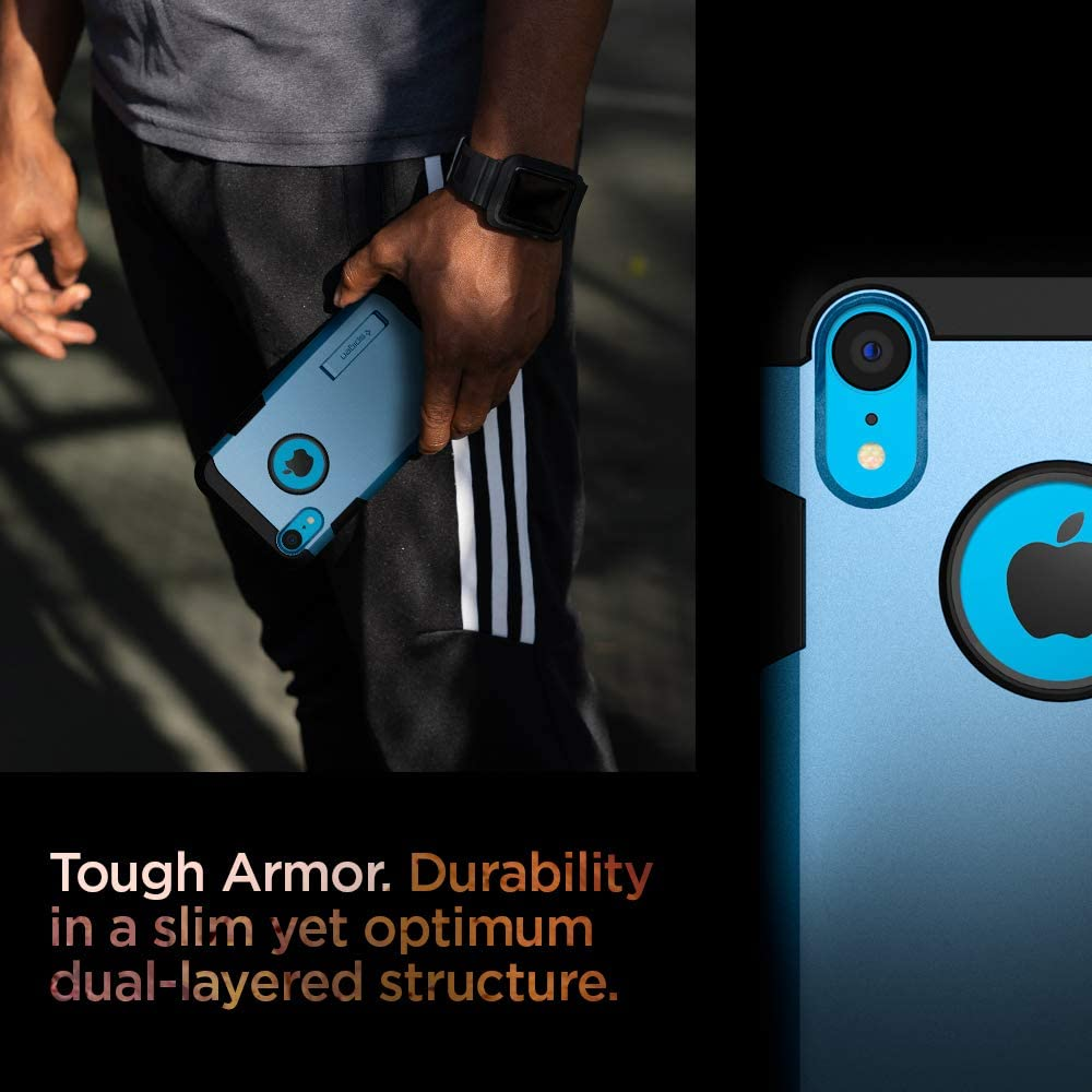 Spigen Tough Armor [Military Grade] Designed for iPhone XR Case 6.1 inch - Blue