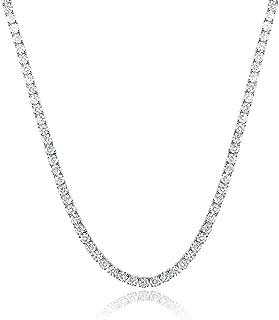 bezel set diamond tennis necklace