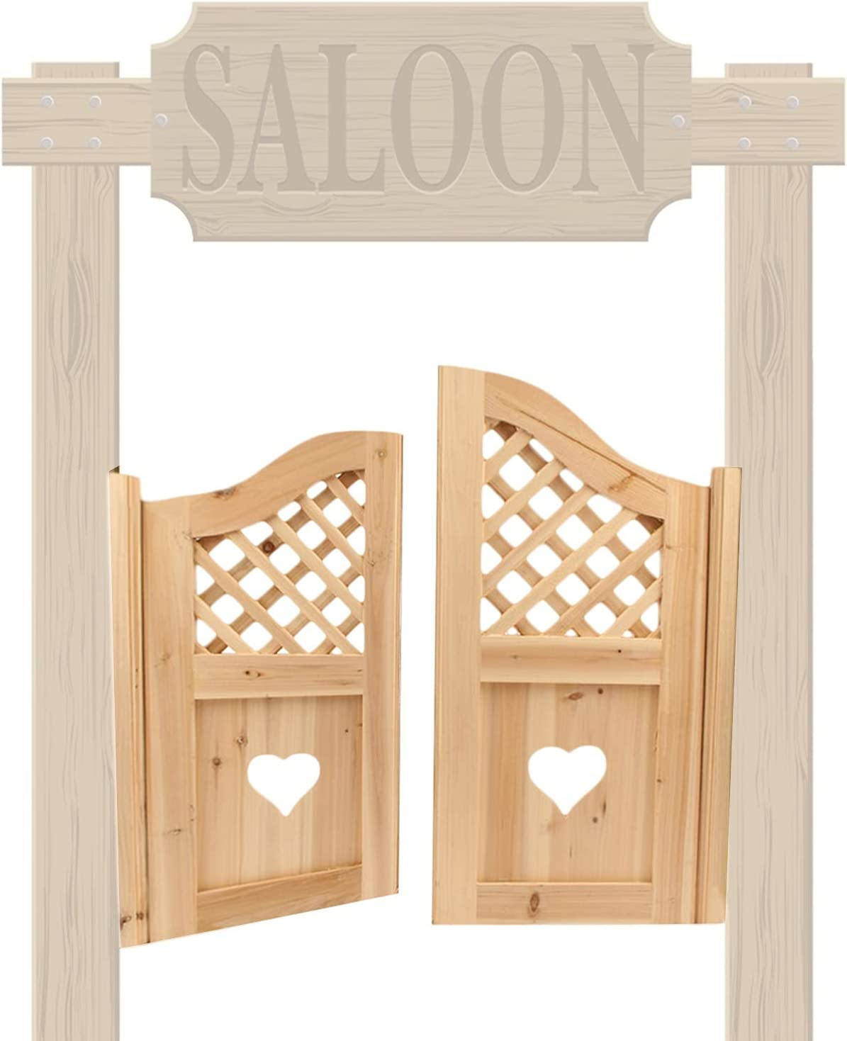 CAIJUN Salon Sales of SALE items from new works Bar Entrance Swinging Wooden Arlington Mall Partitio Doors Indoor