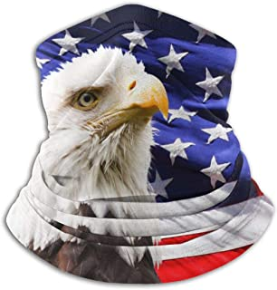 Funny Z Scaldacollo Unisex in Microfibra Scaldacollo con Aquila Calva e Passamontagna con Bandiera Americana per Proteggere il Sole Dal Vento di Polvere