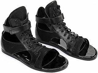 [スター イー ビズネス] グラディエーターサンダル 黒サンダル メンズ 革 おしゃれ ストリートサンダル ファッションサンダル レザーサンダル 本革 サマーサンダル